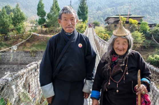 Bhutanese Nomads, Punakha Suspension Bridge